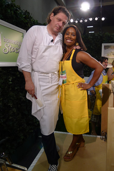 Hanging out with chef Marco Pierre White at BlogHer '11