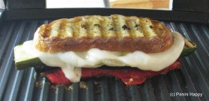 Grilled Vegetable Panini on the grill