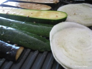 Grill vegetables on the panini grill in just minutes