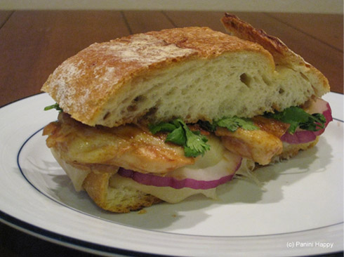 Barbecued Chicken Panini