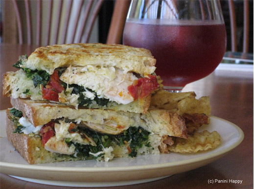 Lemon-Herb Chicken & Spinach Panini