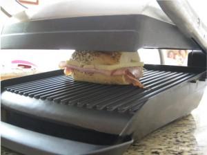 Emmental, Honey & Ham Panini on the panini grill