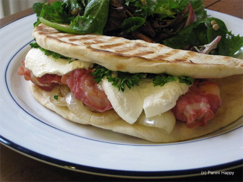 Pancetta-Wrapped Shrimp & Goat Cheese Panini