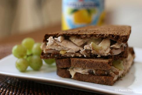 Post image for Chicken-Grape Salad & Gruyere Panini