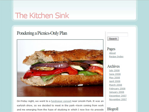 Roasted Vegetable & Goat Cheese Sandwich at The Kitchen Sink