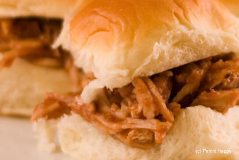 Post image for Pulled Turkey Cranberry BBQ Sliders