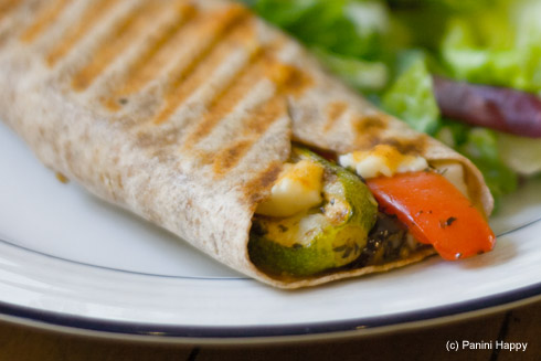 Post image for Mediterranean Vegetable Grilled Wrap