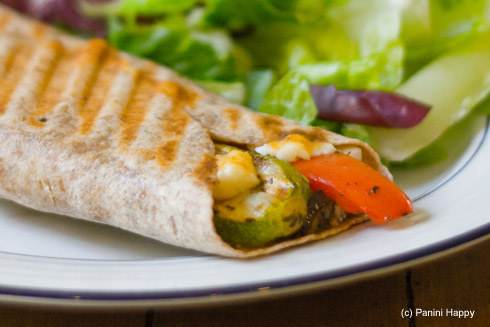 Mediterranean Vegetable Grilled Wrap