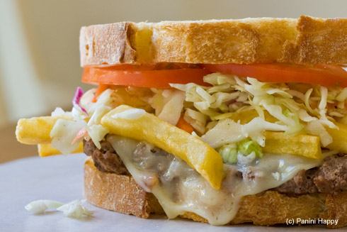 Post image for Pittsburgh-Style Cheese Steak Panini