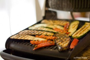 Grill vegetables on the panini press in just 4 minutes