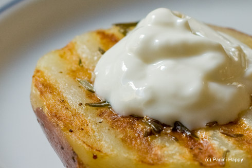 Grilled Rosemary Potatoes - even better with a little sour cream