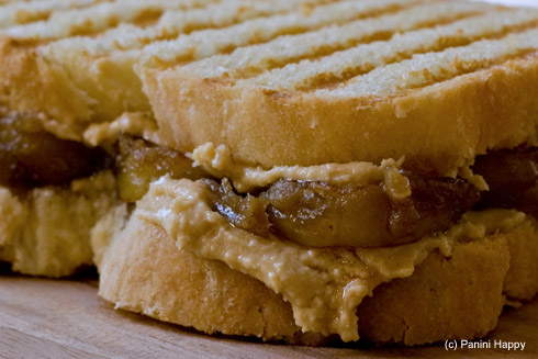 Homemade Peanut Butter & Caramelized Banana Panini