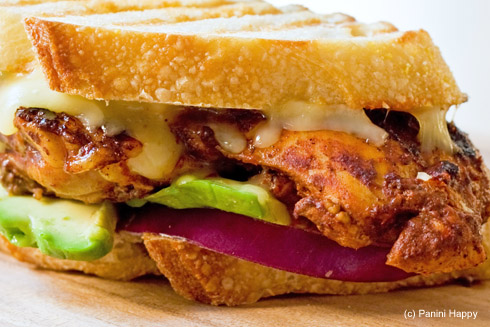 Post image for Red Chile Chicken Panini