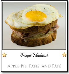 Croque Madame by Jude at Apple Pie, Patis, and Pâté