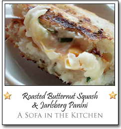 Roasted Butternut Squash and Jarlsberg Panini by Mallory at A Sofa in the Kitchen