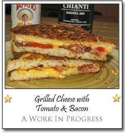 Grilled Cheese with Tomato and Bacon by Vicki at A Work In Progress