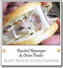 Roasted Asparagus & Onion Panini by Lori at Burp! Where Food Happens
