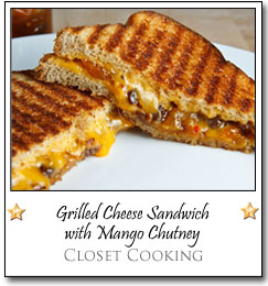 Grilled Cheese Sandwich with Mango Chutney by Kevin at Closet Cooking