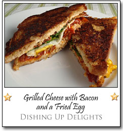 Grilled Cheese with Bacon and a Fried Egg by Esi at Dishing Up Delights