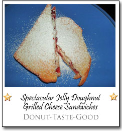 Spectacular Jelly Doughnut Grilled Cheese Sandwiches by Do-Ho at Donut-Taste-Good