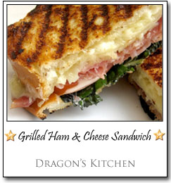 Grilled Ham & Cheese Sandwich by Dragon at Dragon's Kitchen