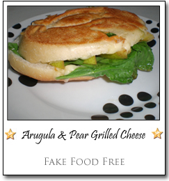 Arugula & Pear Grilled Cheese by Lori at Fake Food Free