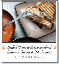 Grilled Cheese with Caramelized Balsamic Onions and Mushrooms by Katie at goodLife {eats}