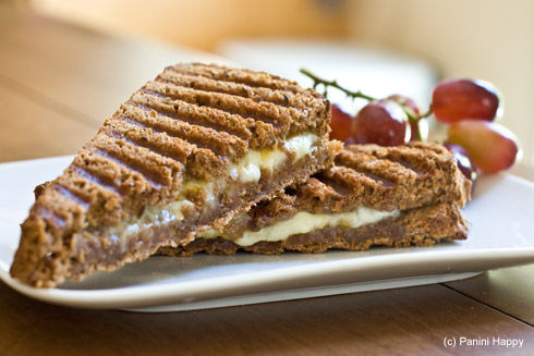 Grilled (All The) Cheese Panini on Dark Rye