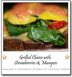 Grilled Cheese with Strawberries & Mangoes by Shane at imagine a different world of grilled cheese