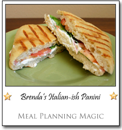 Brenda's Italian-ish Panini by Brenda at Meal Planning Magic