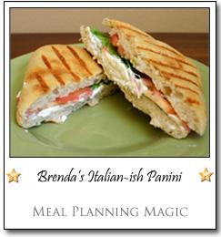 Brenda's Italian-ish Panini by Brenda at Meal Planning Magic