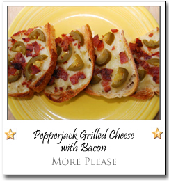 Pepperjack Grilled Cheese with Bacon by Margie at More Please