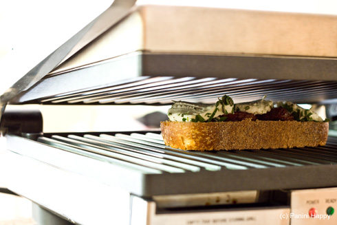 Open-Face Grilled Goat Cheese Panini with Sundried Tomatoes & Herbs