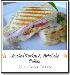 Smoked Turkey & Artichoke Panini by Sara at Our Best Bites