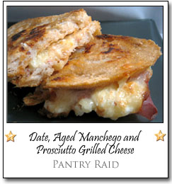 Date, Aged Manchego and Prosciutto Grilled Cheese by Chris at Pantry Raid