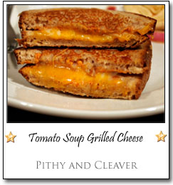 Tomato Soup Grilled Cheese by Maggie at Pithy and Cleaver
