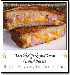 Marbled Jack and Ham Grilled Cheese by Recipe Boy (via The Recipe Girl)