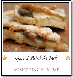 Spinach Artichoke Melt by Deryn at Something Sublime