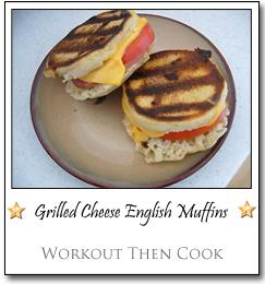 Grilled Cheese English Muffins by Cookie at Workout Then Cook
