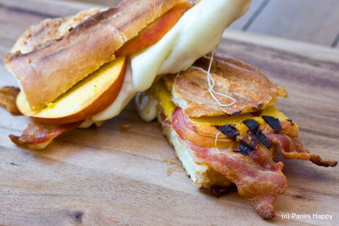 Post image for Peaches & Bacon Panini