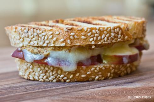 Cheddar, Apples & Horseradish Mustard Panini