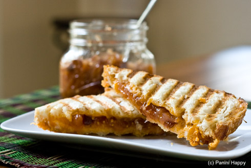 Recipe: Grilled Cheddar Cheese with Apple Chutney | Panini ...