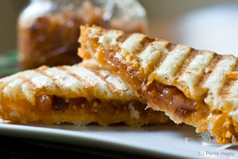 Post image for Grilled Cheddar Panini with Apple Chutney