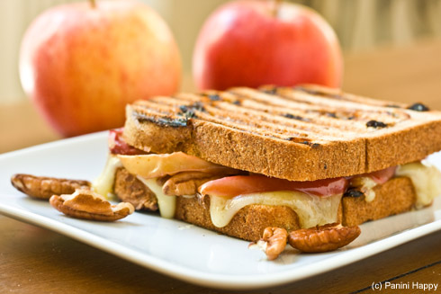 Roasted Apple, Brie & Pecan Panini