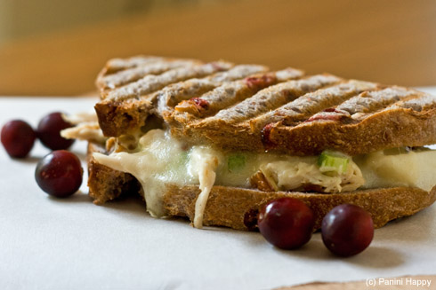 Turkey-Apple Salad Melt Panini