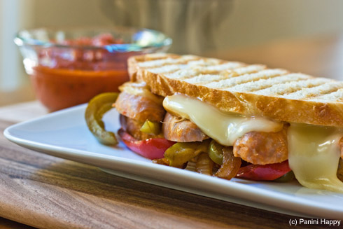 Sausage, Peppers & Smoked Mozzarella Panini