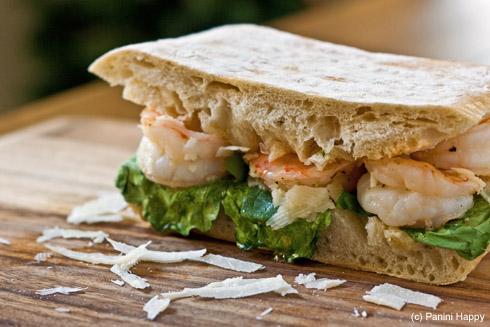Post image for Caesar Shrimp & Arugula Panini (+ Panini Express Cookbook Giveaway!)