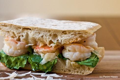 Caesar Shrimp & Arugula Panini