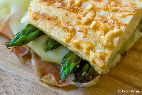 Grilled Asparagus & Prosciutto Panini