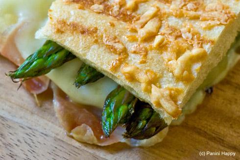 Grilled Asparagus & Prosciutto Panini